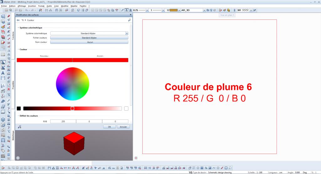 BIMblog ALLPLAN couleur IFC ALLPLAN Couleur Plume 6 identique